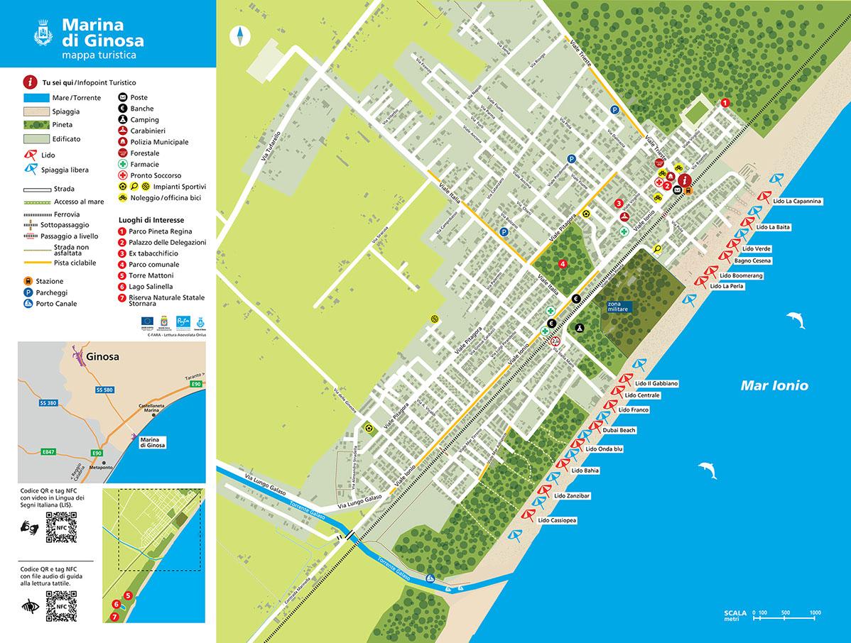Cartina Mappa Turistica Dubai.Mappa Tattile Ginosa